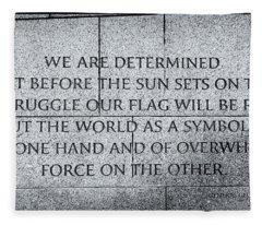 We Are Determined...... Fleece Blanket