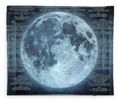 We Choose To Go To The Moon Fleece Blanket