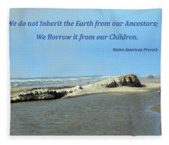 We Do Not Inherit The Earth - V1 Fleece Blanket