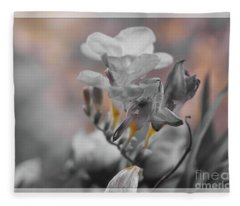 We Fade To Grey Freesia's Fleece Blanket