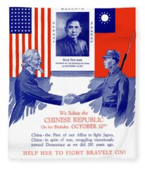 We Salute The Chinese Republic Fleece Blanket