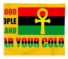 Wear Red Black And Green Fleece Blanket