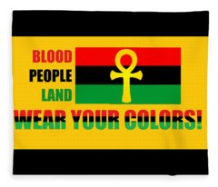 Wear Red Black And Green Fleece Blanket