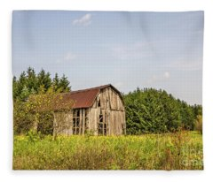 Weathered Barn Basking In The Summer Sun Fleece Blanket