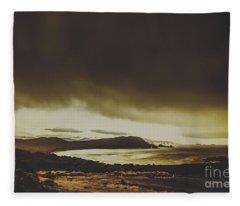 Weathered Coastline Fleece Blanket