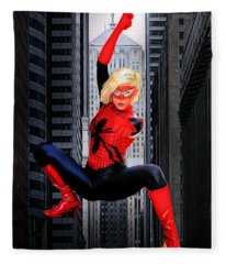Web Swinger Fleece Blanket