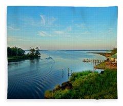 Weeks Bay Going Fishing Fleece Blanket