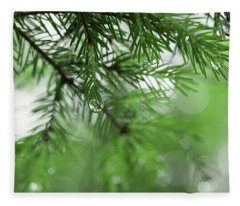 Weeping Pine 2 Fleece Blanket