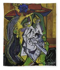 Picasso's Weeping Woman Fleece Blanket