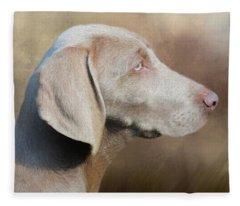 Weimaraner Adult - Painting Fleece Blanket