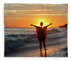 Welcome A New Day Fleece Blanket