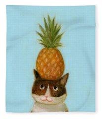 Welcome Cat Fleece Blanket