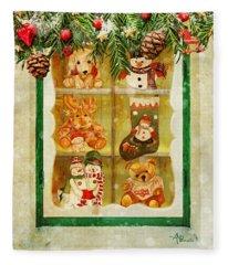 Welcome Christmas Fleece Blanket