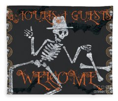 Welcome Ghoulish Guests Fleece Blanket