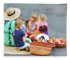 Welcome The Children Fleece Blanket