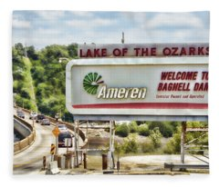 Welcome To Bagnell Dam Fleece Blanket