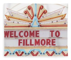 Welcome To Fillmore- Photography By Linda Woods Fleece Blanket
