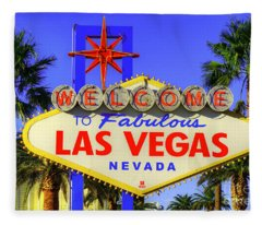 Welcome To Las Vegas Fleece Blanket