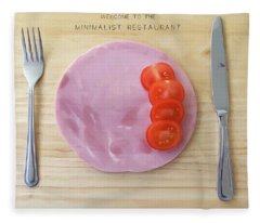 Welcome To The Minimalist Restaurant Fleece Blanket