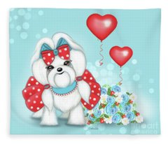 Welcome With Love  Fleece Blanket