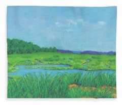 Wellfleet Wetlands Fleece Blanket