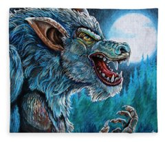 Werewolf Fleece Blanket