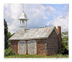 Werley's Corner Schoolhouse/barn Fleece Blanket