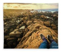 West Coast Tasmania Sightseeing Tour Fleece Blanket