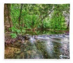 West Fork Rock Spillway Fleece Blanket
