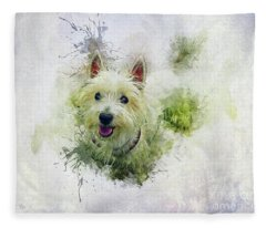 West Highland White Terrier Fleece Blanket
