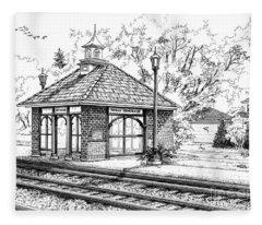 West Hinsdale Train Station Fleece Blanket