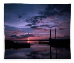 West Lake Toho Blu Indigo Sunset Fleece Blanket