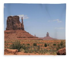 West Mitten Butte Monument Valley Fleece Blanket