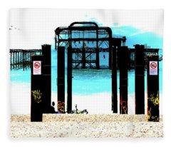 West Pier Graphic Fleece Blanket
