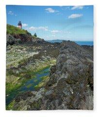 West Quoddy Head Light Fleece Blanket