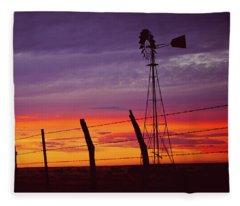 West Texas Sunset Fleece Blanket