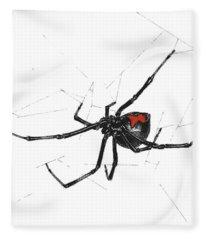 Western Black Widow - Color Fleece Blanket