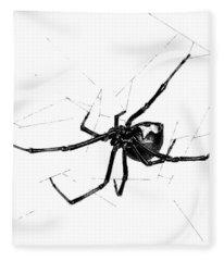 Western Black Widow Fleece Blanket