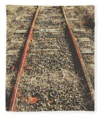 Western Railway Of Routes Forgotten Fleece Blanket