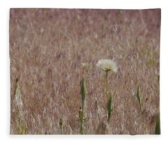 Western Salsify Seed Head Fleece Blanket