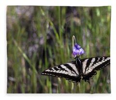 Western Tiger Swallowtail Fleece Blanket
