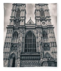 Westminister Abbey Bw Fleece Blanket