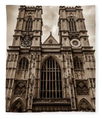 Westminister Abbey Sepia Fleece Blanket