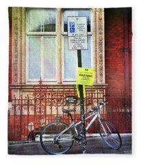 Westminster Bicycle Fleece Blanket
