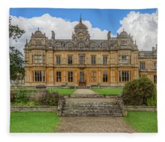 Fleece Blanket featuring the photograph Westonbirt School For Girls by Clare Bambers