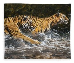 Wet And Wild Fleece Blanket