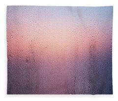 Wet Glass In A Summer  Fleece Blanket
