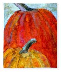 Wet Pumpkins Fleece Blanket