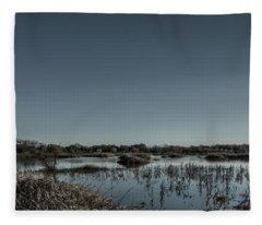 Wetlands Desaturated  Fleece Blanket