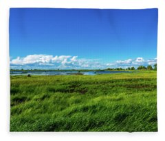 Wetlands On A Windy Spring Day Fleece Blanket